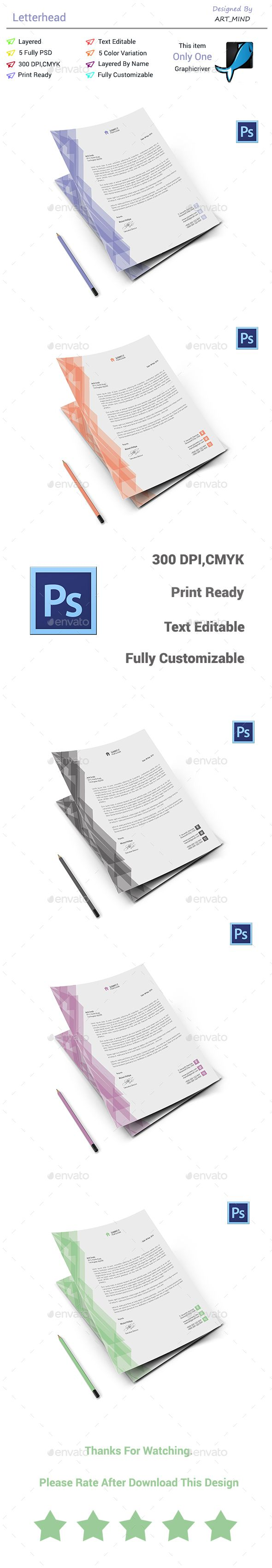 Best Letterhead Templates Images On   Print