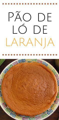 Pão de ló de laranja | Food From Portugal. Quer preparar um bolo simples e rápido para o lanche? Este pão de ló é fofo e tem o delicioso e agradável aroma da laranja! Vai adorar o sabor, experimente não se vai arrepender… #bolo #receita