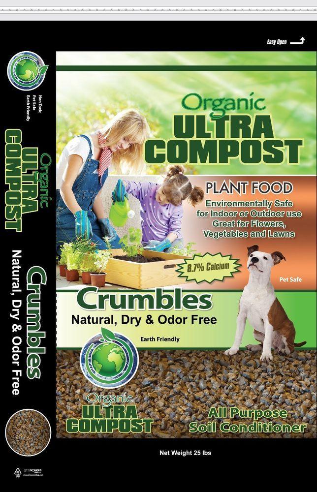 Details about Compost Crumbles 25 lb Bulk (Organic Soil