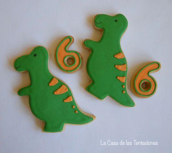 galletas de dinosaurios. Galletas para cumpleaños. cookies