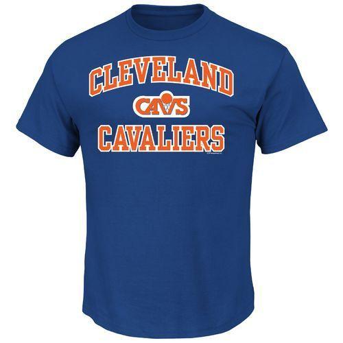 Majestic Men's Cleveland Cavaliers Hardwood Classics Heart and Soul T-shirt
