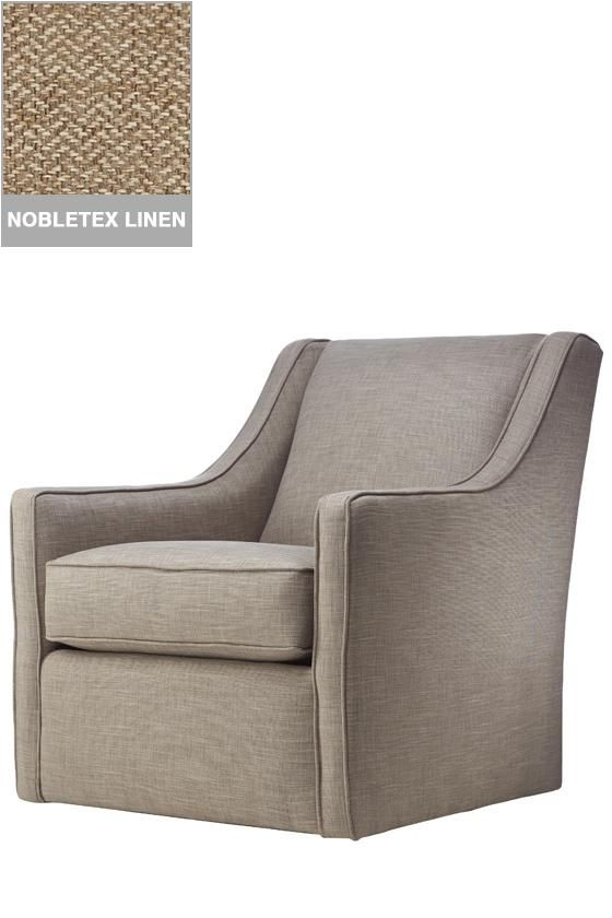 Custom Khloe Upholstered Swivel Chair - Glider - Living Room Chairs - Glider Chair | HomeDecorators.com