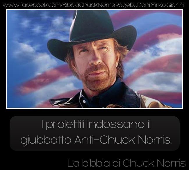 I proiettili indossano il giubotto anti-Chuck Norris