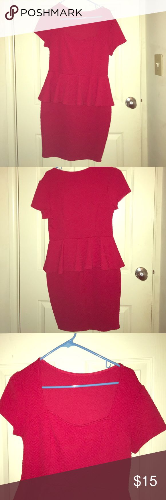 Peplum dress Red Forever 21 peplum dress Forever 21 Dresses Midi