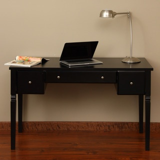 Cami Black 3 Drawer Writing Desk Writing Products And Black