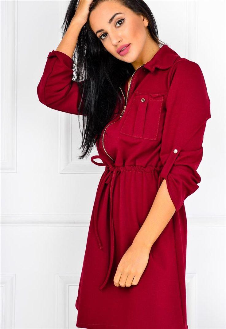 Sukienka tunika koszulowa typu szmizjerka SEXY, Ona Odzież Sukienki | Sukienki.shop