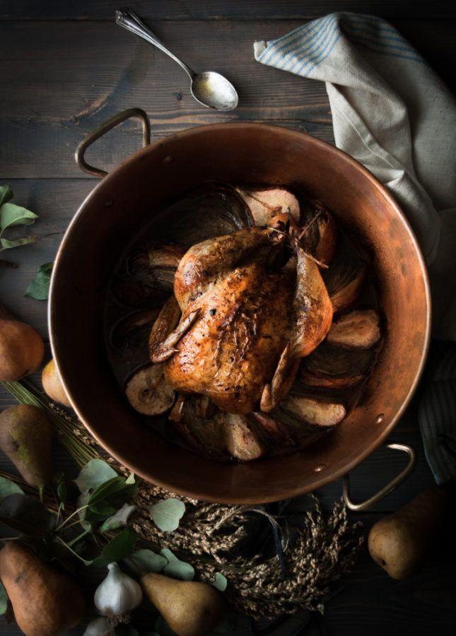 Pear & Vanilla Bean-Brown Butter Roast Chicken - The Kitchen McCabe