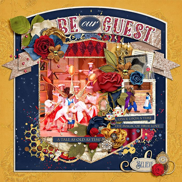 template : trio pack 40 - enchanted rose by cindy schneider believe in magic : enchanted rose by amber shaw & studio flergs