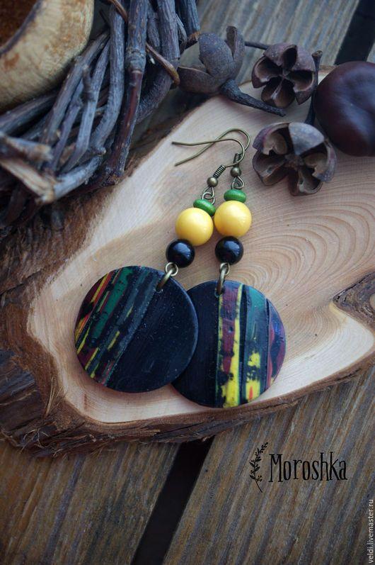 Polymer clay earrings | Серьги ручной работы. Серьги Пески Сахары (2). MOROSHKA (Диана Великанова). Интернет-магазин Ярмарка Мастеров. Серьги