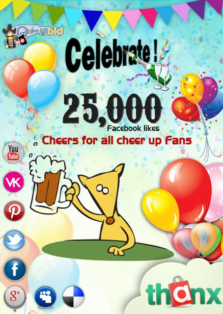Buy more bids and get more products just celebrate 25,000 likes with us. http://qbid.bz/buy-bids.aspx
