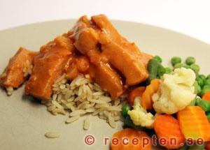 Recipe for Sausage stroganoff. baon.