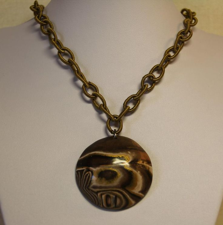 handmade necklace from polymer clay!