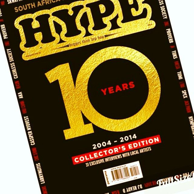 Congrats to Hype Mag for a decade of contributing to the growth of hip hop in our country!!10 YEARS IN THE GAME