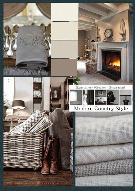 from Modern Country Style blog: Paint Shades: Little Greene Limestone, Fescue, Cool Arbour, and Serpentine, click through for more details...