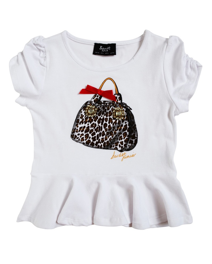 Bag Print Peplum Tee - Bardot Junior