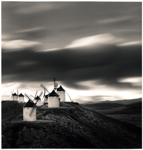 Franco Fontana, La Mancha. Chasing windmills................