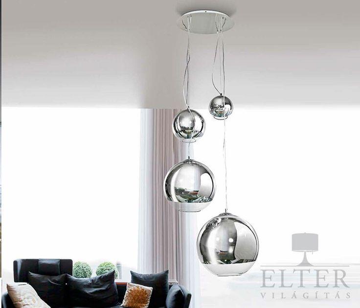 Lámpatípusok - Beltéri világítás - Azzardo Silver Ball függeszték - Elter.hu