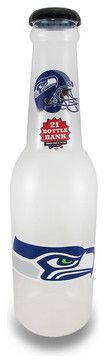 NFL Seattle Seahawks Jumbo Bottle Coin Bank 21 In. eclectic-home-decor