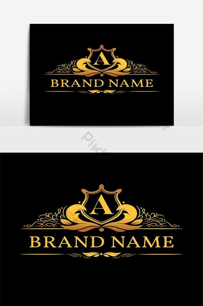 شعار مونوغرام بحرف ذهبي صور Png Eps تحميل مجاني Pikbest Logo Design Free Templates Logo Design Free Monogram Logo