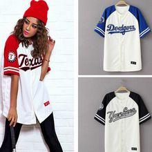 2015 Summer  Hip Hop Sports Fashion Baseball T shirt   Korean style Loose Unisex Mens Womens Tee Tops Tide mujeres camiseta(China (Mainland))