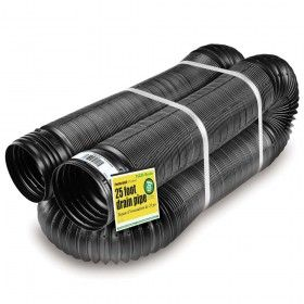 FLEX-Drain 50310 25' Perforated Flexible/Expandable Landscape Drain Pipe