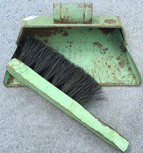 Cute vintage mini dustpan and broom