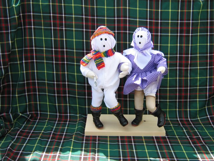 hand crafted mummer doll