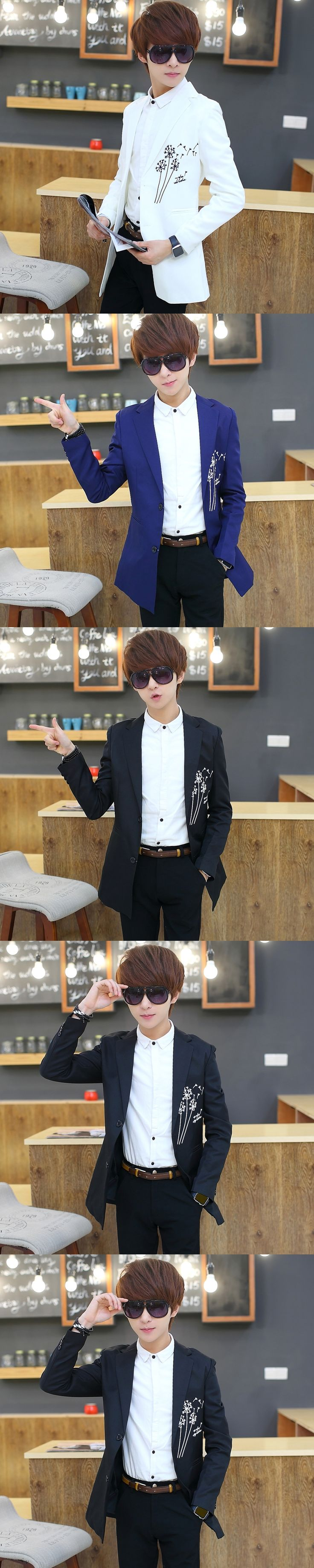 Young men and women in the spring and autumn suits casual suit slim young men's suit
