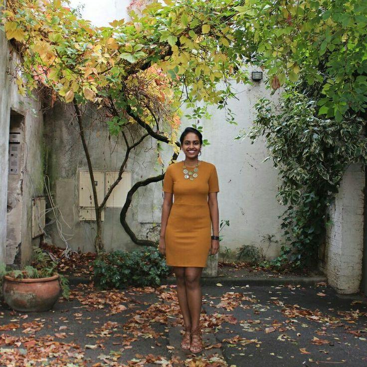 #fall#lunch#mustarddress#ootd#paris#f21#statementneckpiece#love#fashion