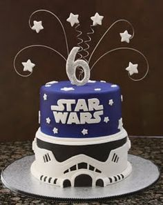 Star Wars birthday cake! The force is strong with this one!