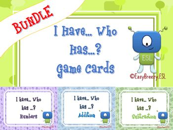 Great Value!!! I Have... Who Has...? Game Cards Bundle: Numbers, Addition