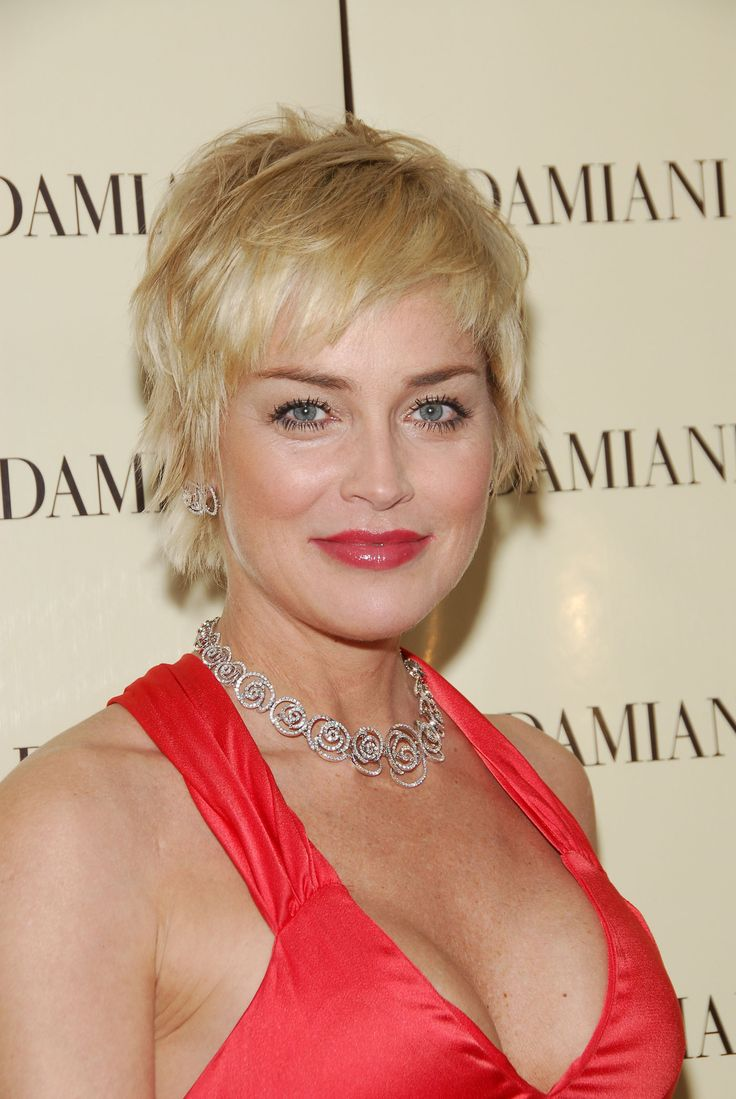 Sharon stone spiky short haircut for older women over 50 getty images - 26 Encouraging Sharon Stone Short Hair Styles Of 26 Photos
