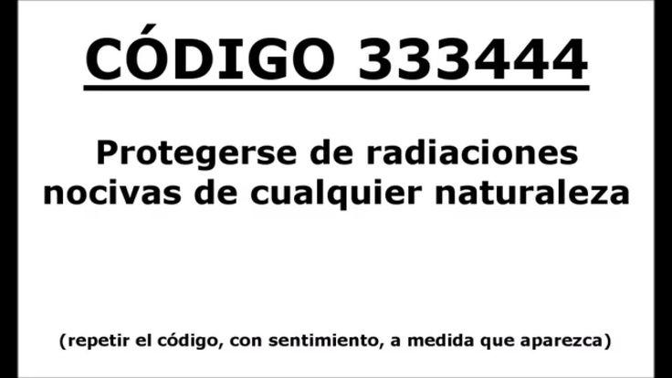 Codigos Sagrado 333444: Protegerse de radiaciones nocivas de cualquier n...