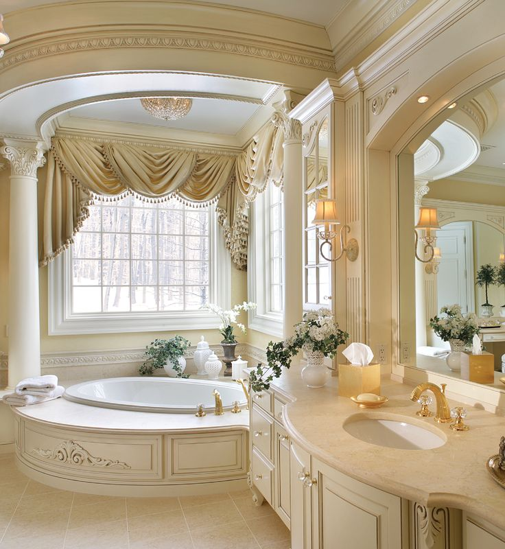 31 best images about bathrooms from antonovich design a for Romantic master bathroom