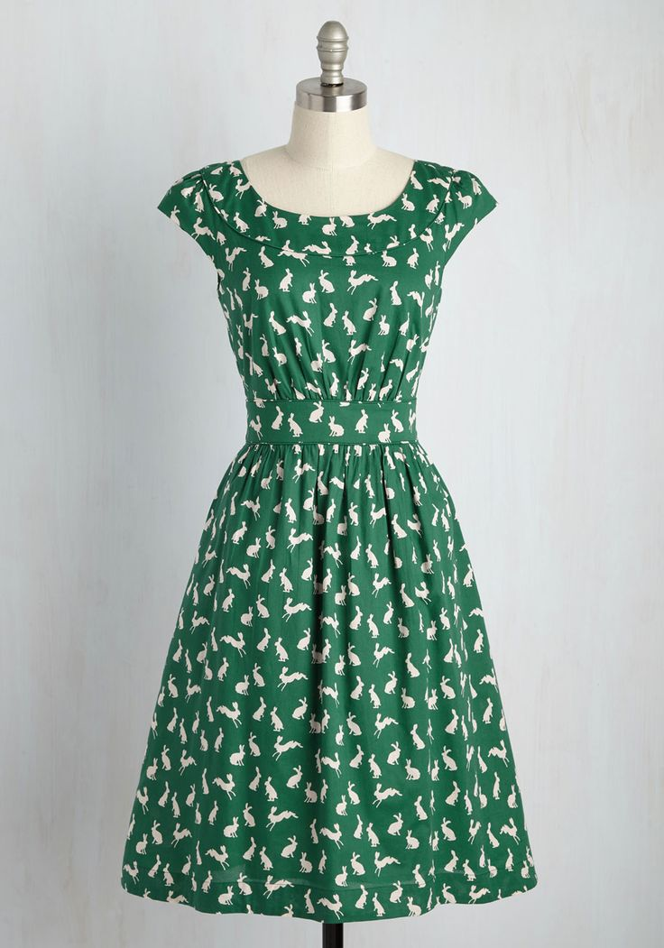 Day After Day A-Line Dress in Rabbits, @ModCloth