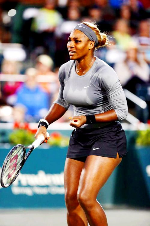 Serena Williams in her Match at the Family Circle Cup 2014 #WTA #Williams #FCC2014