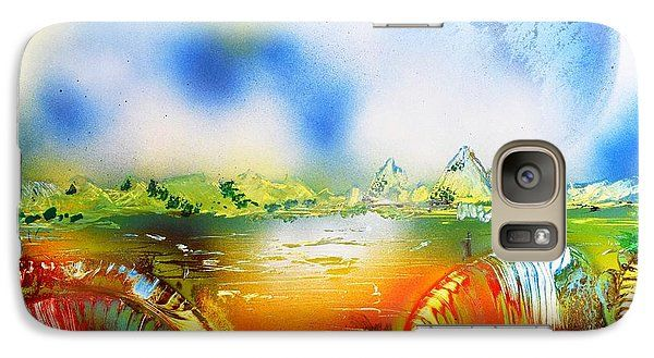 Rainbowland Galaxy S7 Case Printed with Fine Art spray painting image Rainbowland by Nandor Molnar (When you visit the Shop, change the orientation, background color and image size as you wish)