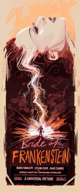 Bride of Frankenstein by Olly Moss - Universal Studios Monster Movie Poster