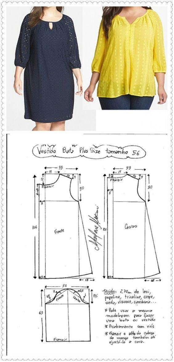 Patrones de ropa de gran tamaño - Mi dulce hogar | Viki | Ropa ...