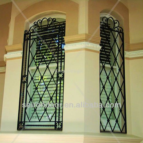 French decorative house window grill design buy for French window design