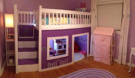 Girl's Playhouse Loft Bed   Do It Yourself Home Projects from Ana White