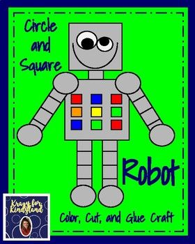 Shape Robot Craft For Kindergarten Circle And Square