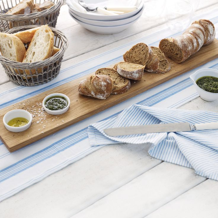Baguette Board with Dipping Bowls   The White Company