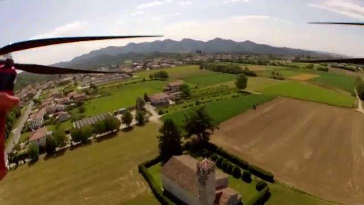 Ripresa aerea (1° Test) Chiesa S. Lucia + Vista aerea Castelcucco -TV-