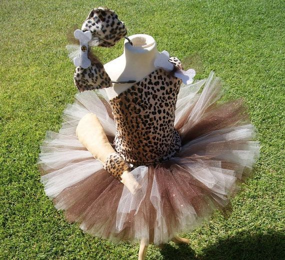 Little Rockstarz CAVE GIRL BAM tutu set costume by Littlerockstarz, $43.00
