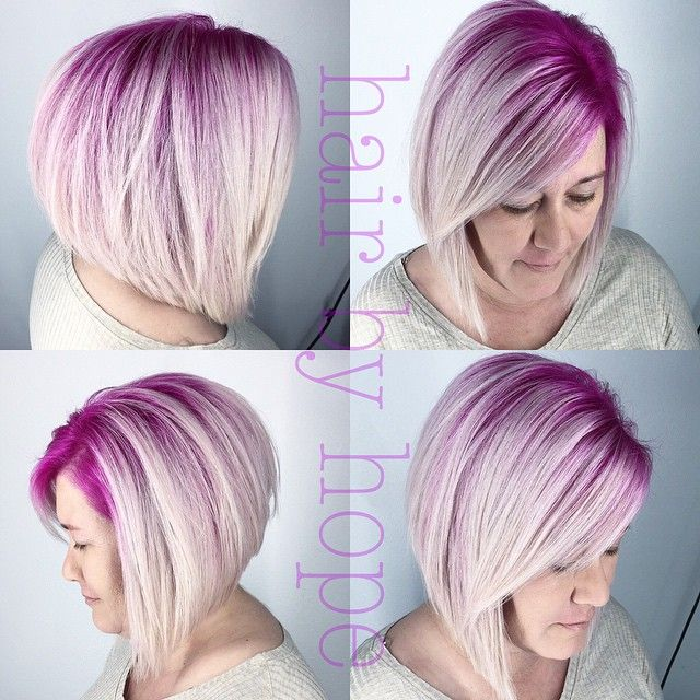 Inverted Bob Hairstyles - love the color but choppier in the back