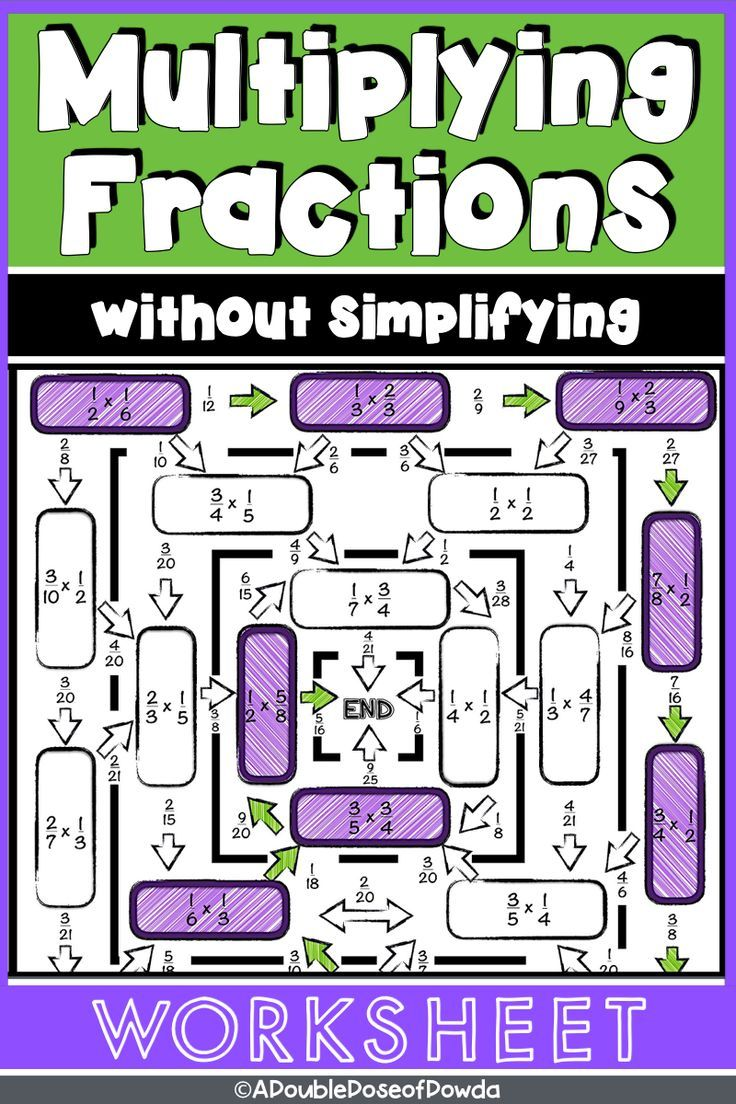 Fraction Multiplication The Worksheets On This Page Have Various