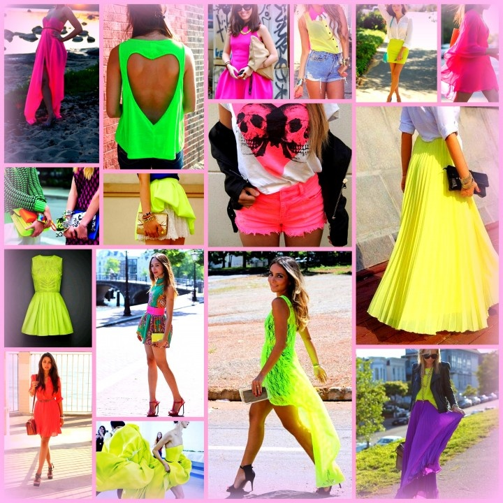Feel free to wear bright colors, but don't over do it. Neon colors can be distracting