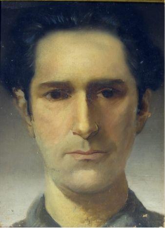 Portrait of Poet Olegário Mariano by Candido Portinari (Brazilian 1903-1962