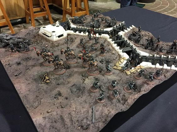 Photography showcase of my Krieg trench board for Armies on Parade 2016 hosted up at Warhammer World.